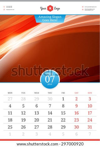 stock-vector-wall-calendar-july-vector-template-with-abstract-background-week-starts-monday