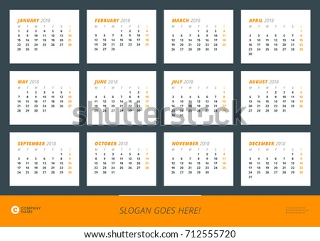 March 2018 Landscape Calendar Download Free Vector Art Stock