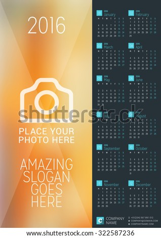 2104 calendar template - wall calendar february 2016 123freevectors