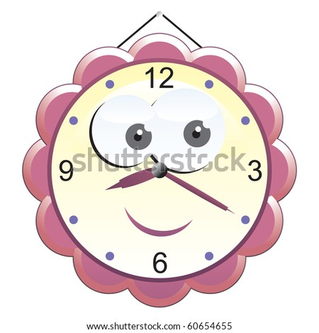 Wall Clock Funny Illustration