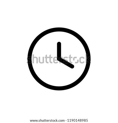 wall clock icon vector template
