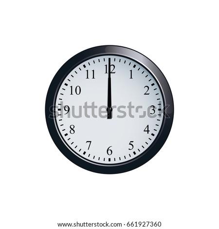 Wall clock set at 12 o'clock Сток-фото ©