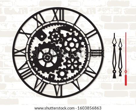 wall clock template with