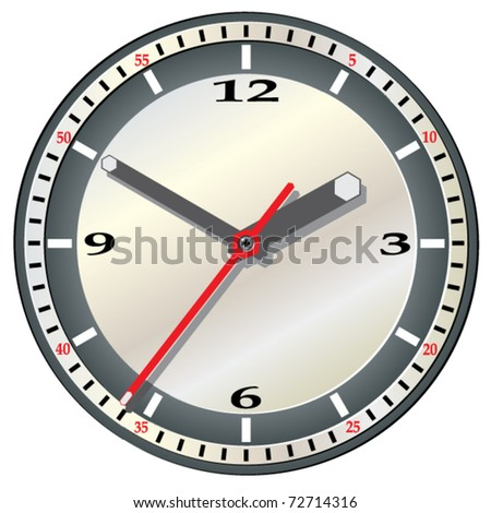 Wall clock. Vector illustration.