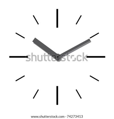 Wall clock. Vector illustration. - stock vector