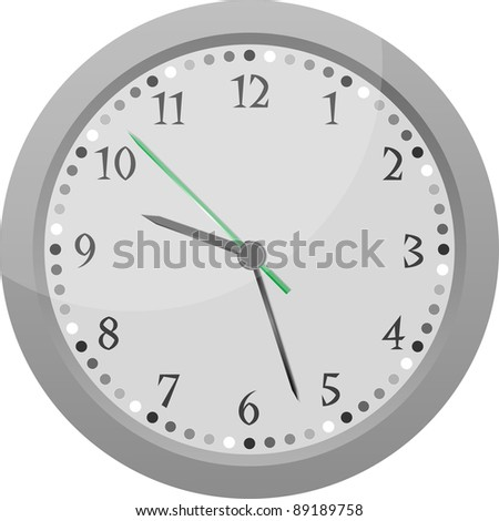 wall clock Vintage isolated on white background vector