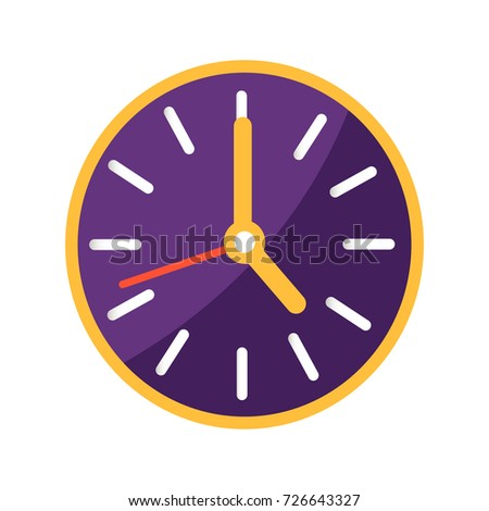 wall clock with big and small