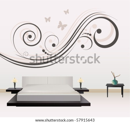 wall decoration - stock vector