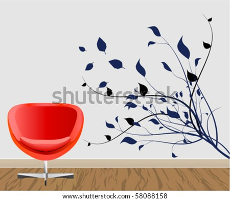 Wall Decoration Stock Vector 58088158 : Shutterstock