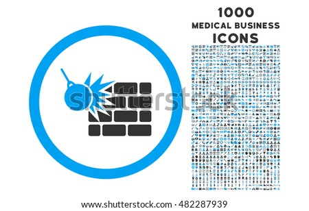 wall destruction rounded vector