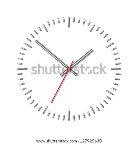 Wall mechanical clock. Vector illustration