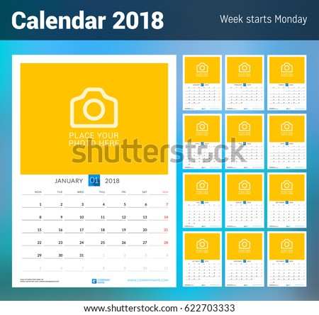 Calendar Template Set Download Free Vector Art Stock Graphics