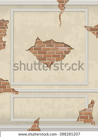 wall of classic interior with