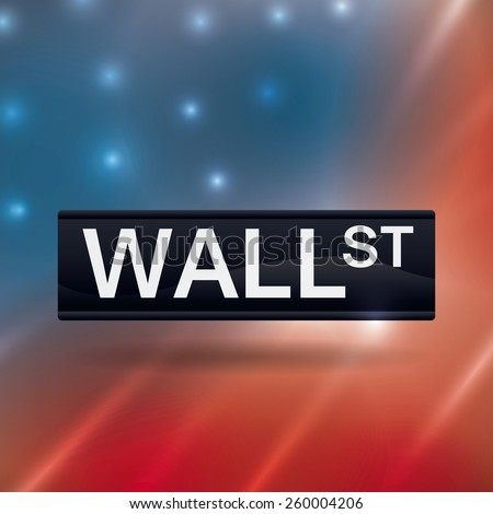 wall street design over blur