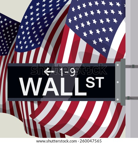 wall street design over white