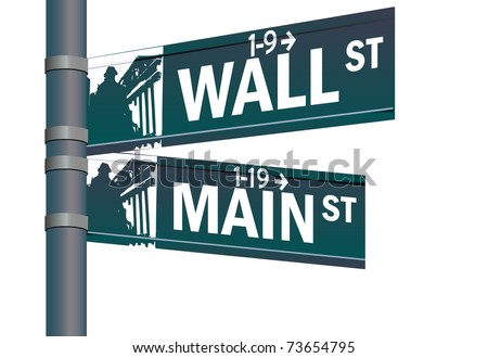 wall street main street vector