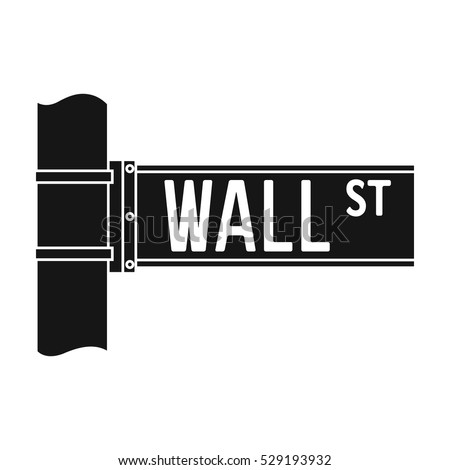 wall street sign icon in black