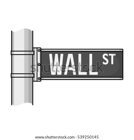 wall street sign icon in