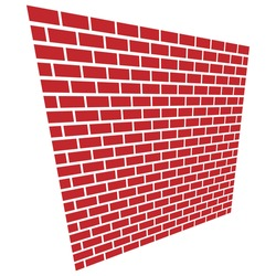 Wall vector illustration. Illustration for block, barricade, obstacle concepts