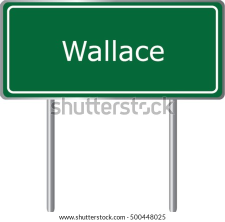 wallace   idaho   road sign