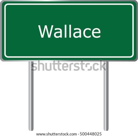 wallace   idaho   road sign