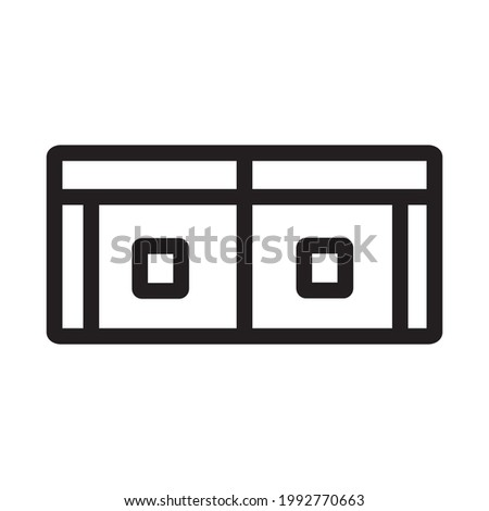 wallet icon or logo vector illustration of isolated sign symbol, vector illustration with high quality black outline.
