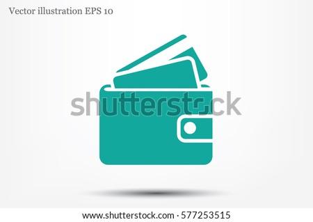 wallet icon vector illustration.