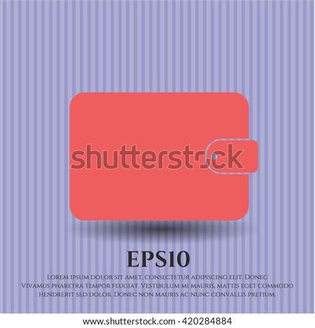 wallet icon vector symbol flat eps jpg app web concept website