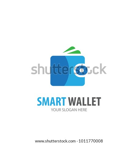 Wallet logo for business company. Simple Wallet logotype idea design. Corporate identity concept. Creative Wallet icon from accessories collection.