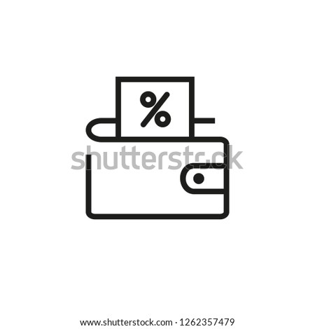 Wallet on sale line icon. Money, cash back, offer. Discount concept. Can be used for topics like shopping, consumerism, credit