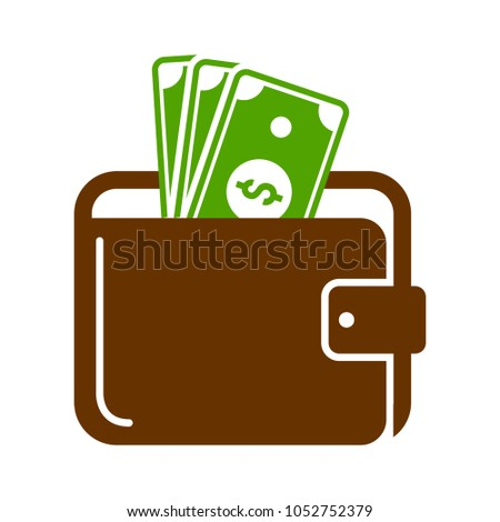 wallet sign illustration