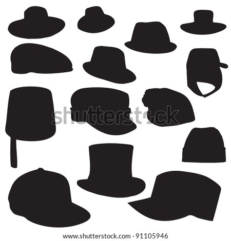 Wallets collection silhouette vector illustration