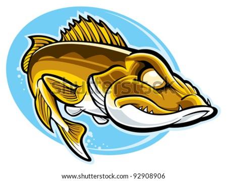 free walleye vector illustration download free vector art stock rh vecteezy com walleye clip art free
