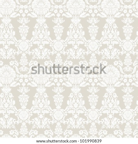 Wallpaper, baroque pattern  Seamless vintage background  Vector background for textile design.