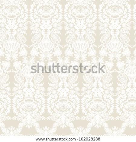 Wallpaper, baroque pattern  Seamless vintage background  Vector background for textile design.