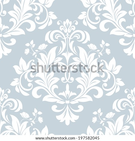 Wallpaper in the style of Baroque A seamless vector background Damask floral pattern