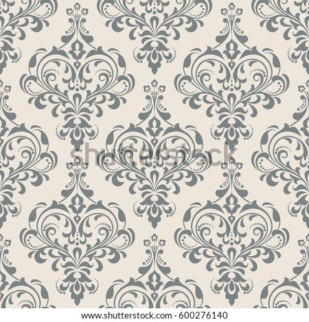 Wallpaper in the style of Baroque. A seamless vector background. Damask floral pattern. Floral ornament. Stylish graphic pattern.