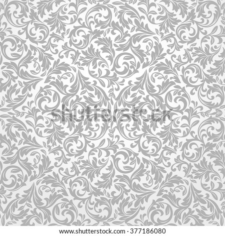 Wallpaper in the style of Baroque. A seamless vector background. Floral ornament