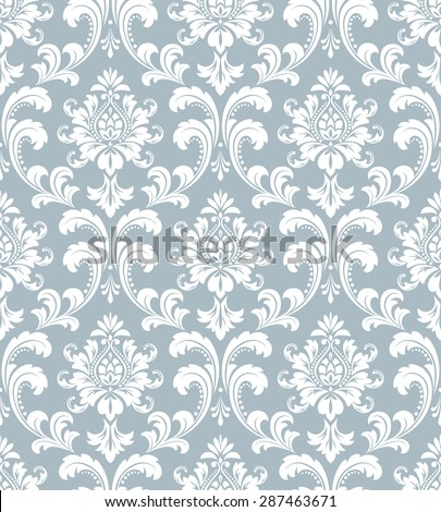 Wallpaper in the style of Baroque Seamless vector background Damask floral pattern