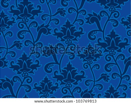 Wallpaper of classic stylish flowers in an antique look - stock vector