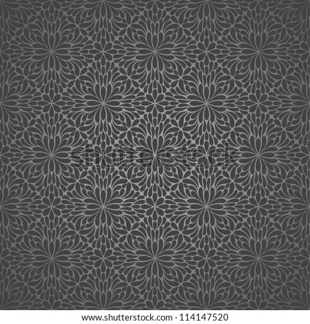 Wallpaper pattern,black.  Vector background.Seamless