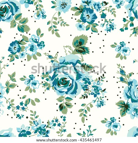 wallpaper seamless vintage blue