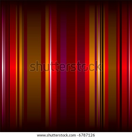 wallpaper stripes in many red colors with a gradient shadow top and bottom - stock vector