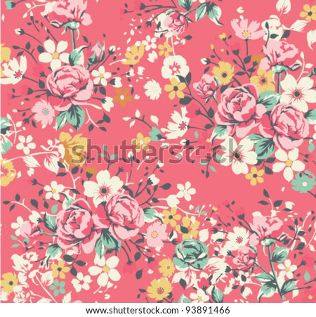 Vintage Rose Wallpaper Wallpaper Vintage Rose Pattern
