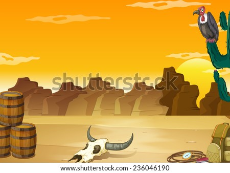 wallpaper with desert scene in