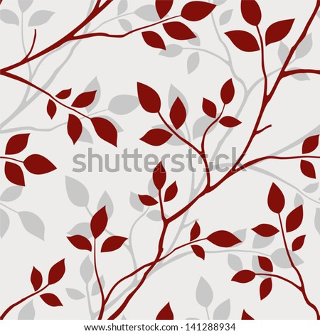 Wallpaper with leaves. Seamless pattern