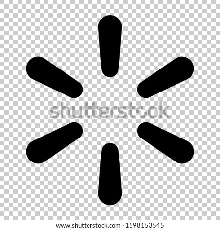 walmart icon isolated on transparent background