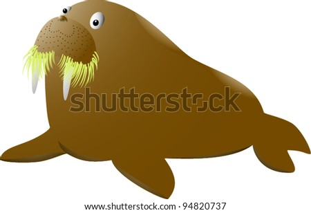walrus - stock vector