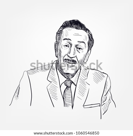 walt disney vector portrait