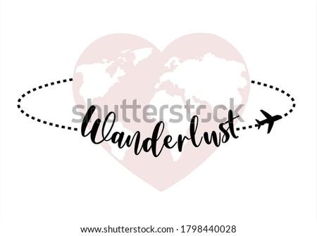 wanderlust vector design heart